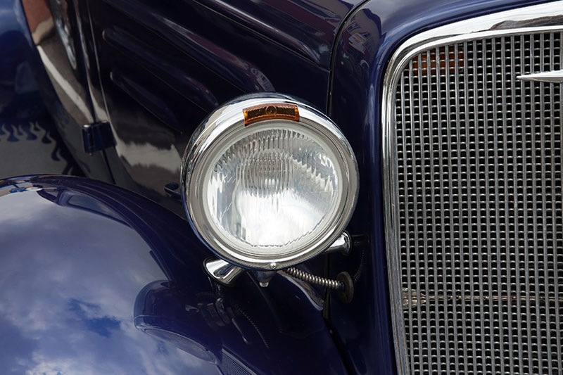 Headlight and Grill from Classic Car