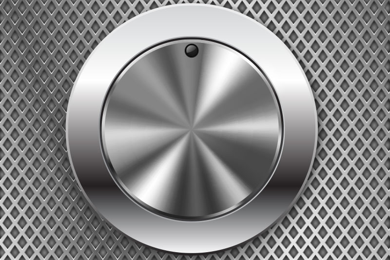 Round Switch Knob with Perforated Metal Background